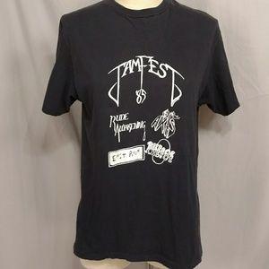 Vintage 1985 80s Heavy Metal Rock T Shirt Fest Tee